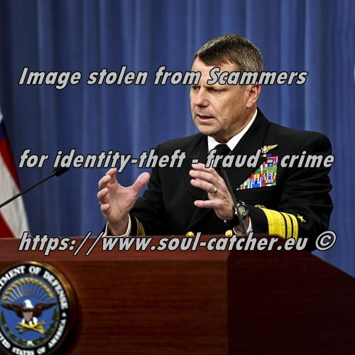 Vice Admiral William E. Gortney (Retired) image abused by Scammers