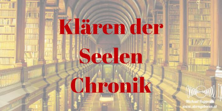 Spiritual response therapy, soul clearing, Klärung der Seelen Chronik
