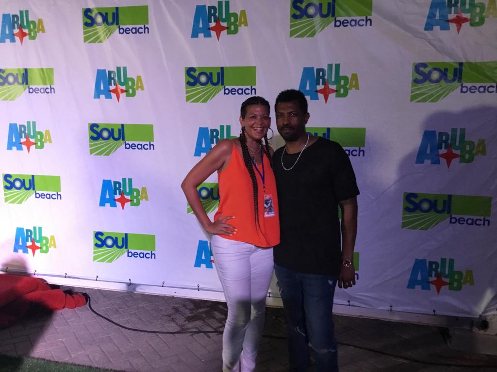Deon Cole and Aida Rodriguez in Aruba