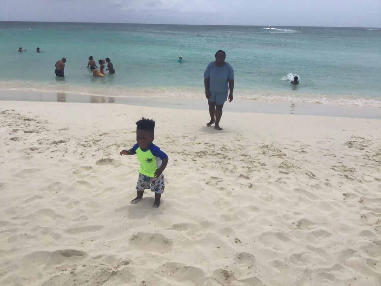 At Eage Beach with Sugar Plum