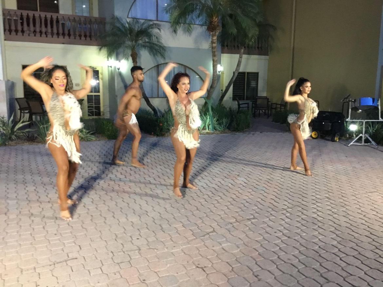 Carnival dancers at Eagle Aruba Resort