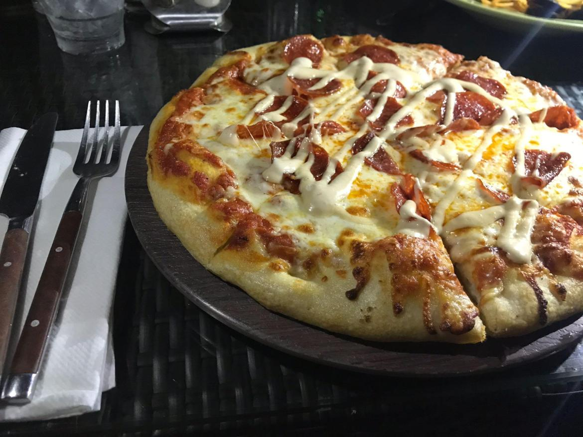 Cheezy pizza from Uncle Tony's Pizza