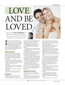 Tracy Dempsey's wellbeing column in the Irish Sunday Mirror - Wk 5 of 10 Weeks to Wellbeing: Love
