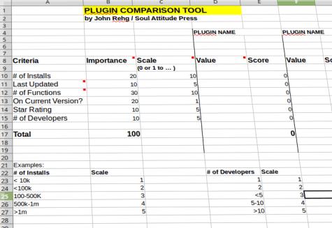 Plugin Comparison Tool