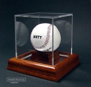 野球ボールケース木製