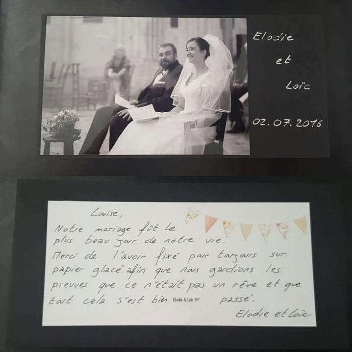 carte de remerciement soulbliss photographe mariage paris essonnes