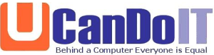 Logo for UcandoIT - Behind a computer everyone is equal