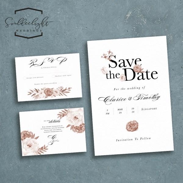 Printable Semi Custom Wedding Invitation Card Suite