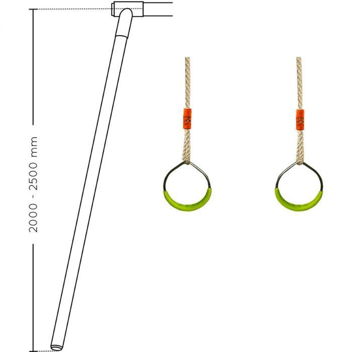 paire d anneaux en metal pour portique soulet