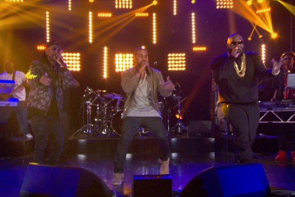 "Rick Ross, Big Sean, and Kanye West Perform ""Sanctified"" on The Arsenio Hall Show [VIDEO] @rickyrozay @kanyewest @bigsean @ArsenioHall"