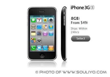 Apple ຫັ່ນລາຄາ iPhone 3GS ລົງເຫລຶອ $49 ໃນອາເມລິກາ