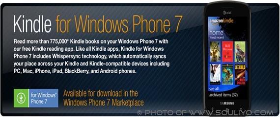 ມາແລ້ວ KIndle App ສຳລັບ Windows Phone 7