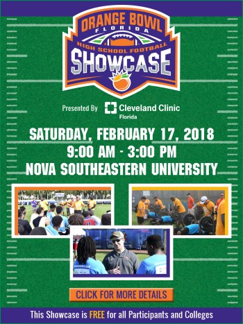 2018 Orange Bowl Florida High School Football Showcase Presented By Cleveland Clinic Saturday 02 17 0900 Am 0300 Pm