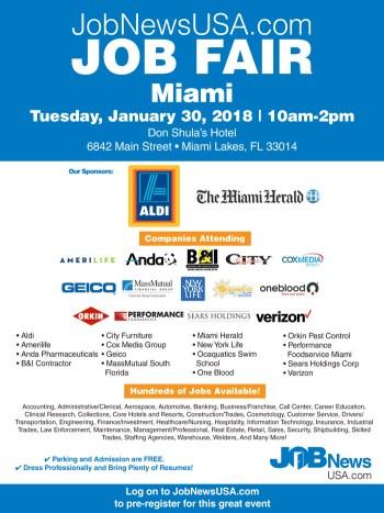 JobNewsUSA com South Florida Job Fair 1/30/18   The Soul Of