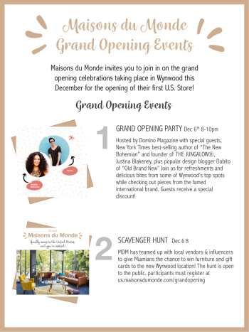 Maisons Du Monde Grand Opening Events 12618 The Soul Of Miami