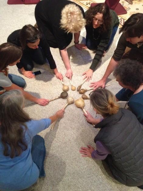 Rawhide rattle crafting workshop