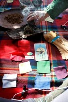 Smudge, tarot and prayer ties