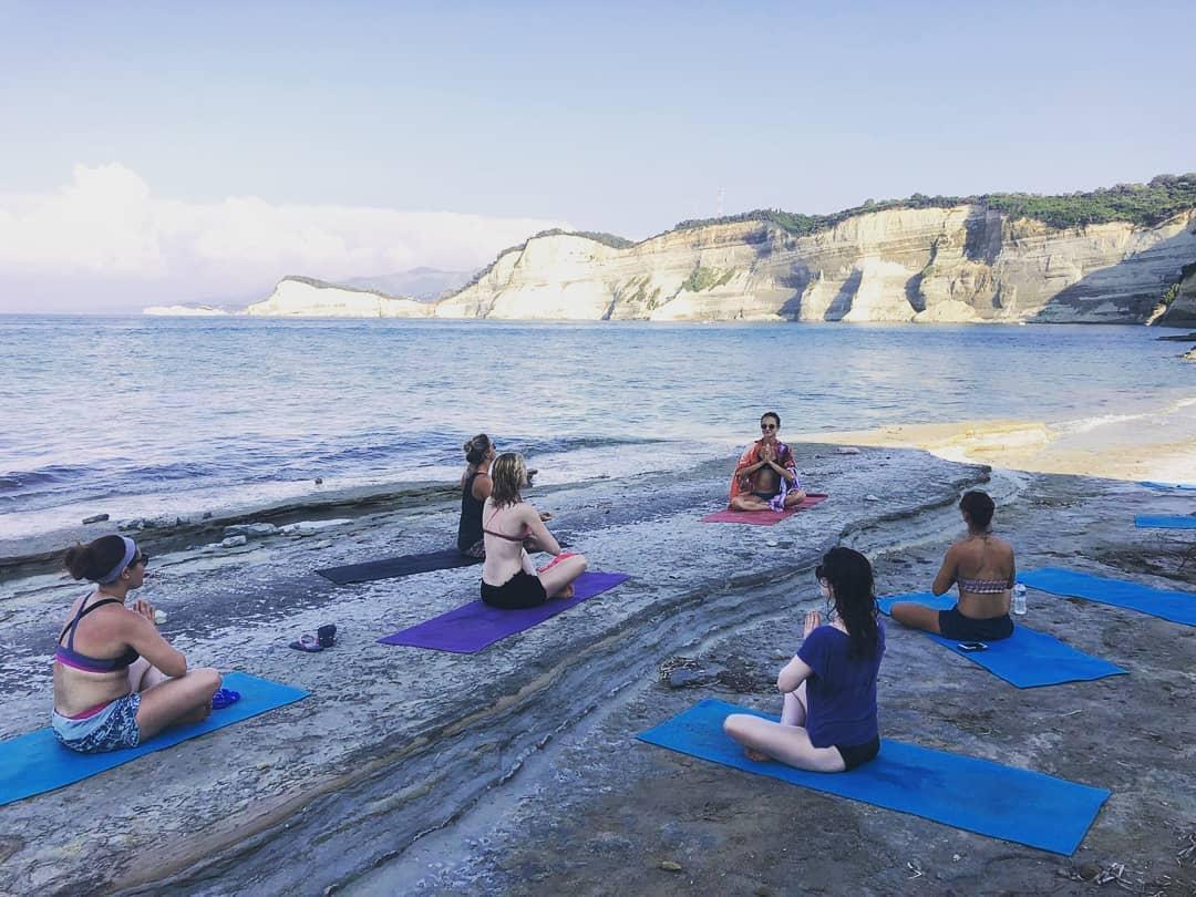 yoga holiday in Corfu