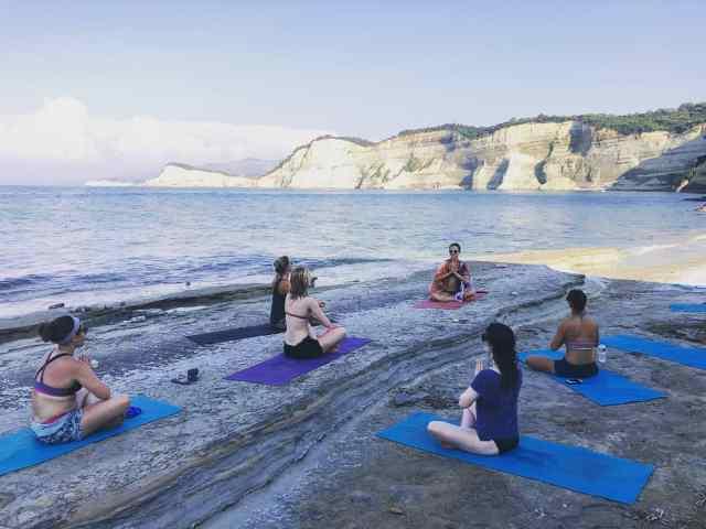 summer yoga retreat Corfu