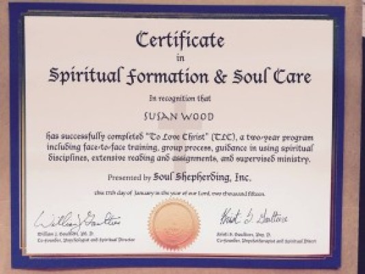 Soul Shepherding Spiritual Formation and Soul Care Certificate