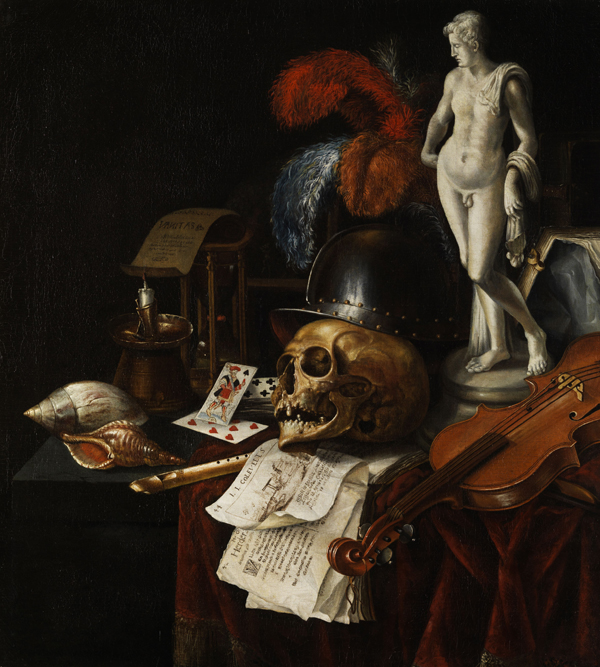Vanitas still life by Jan Fris, 1625