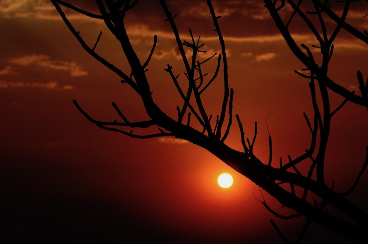 Tramonto in Swaziland: donne africa