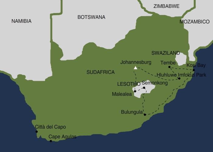 Mappa Sudafrica 2016