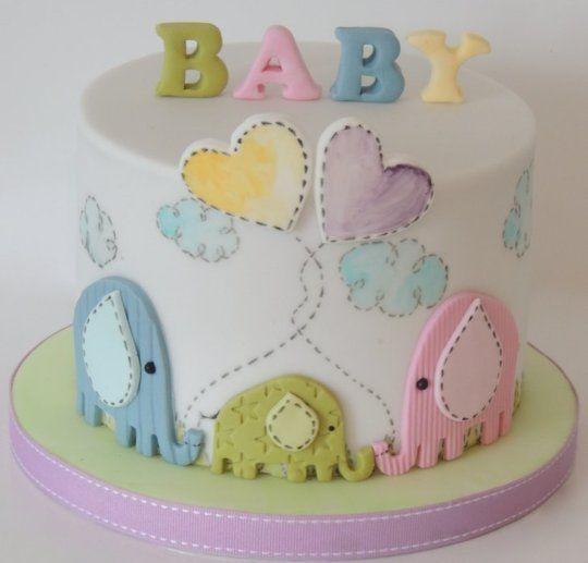 Bolos Para Chá De Bebê 35 Modelos Incríveis