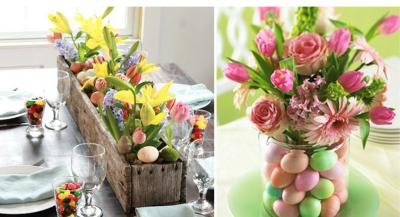 decoração-páscoa-arranjos-com-ovos