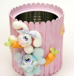 decoração-páscoa-latas-decoradas