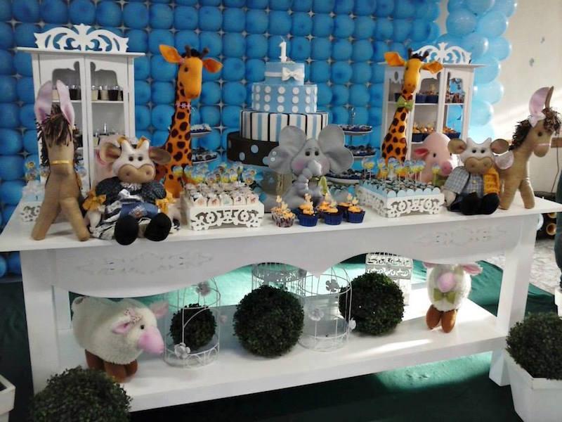 festa-infantil-arca-de-noé-mesa-branca