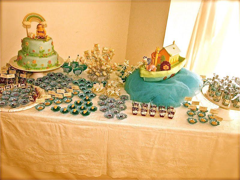 festa-infantil-arca-de-noé-mesa-simples