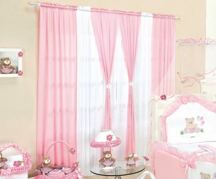 cortinas-para-quarto-de-bebê-rosa