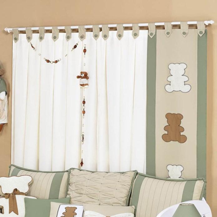 cortinas-para-quarto-de-bebê-verde