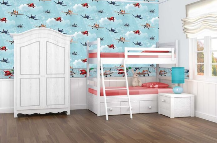 blue children's bedroom
