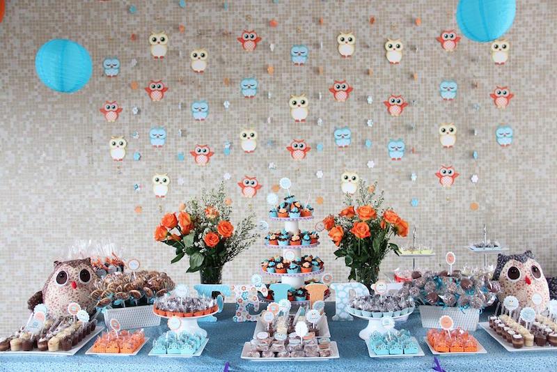 chá-de-bebê-coruja-azul-e-laranja