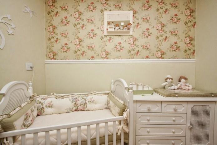 papel-deparede-para-quarto-de-bebê-floral