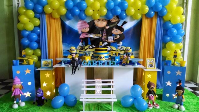 festa-infantil-minions-tema-decoração
