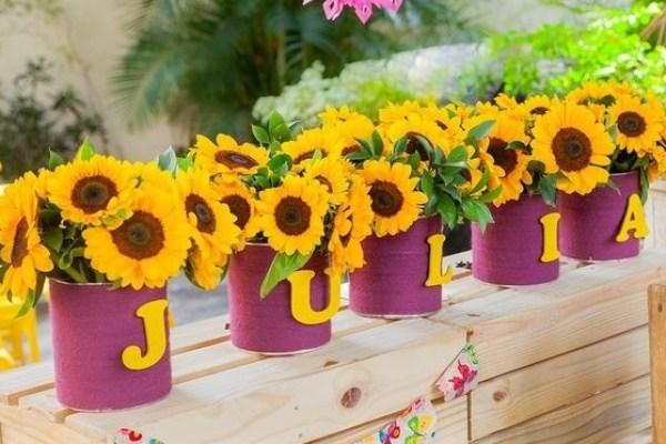 festa infantil primavera amarela girassol