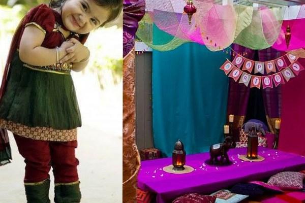 festa infantil primavera india colorida