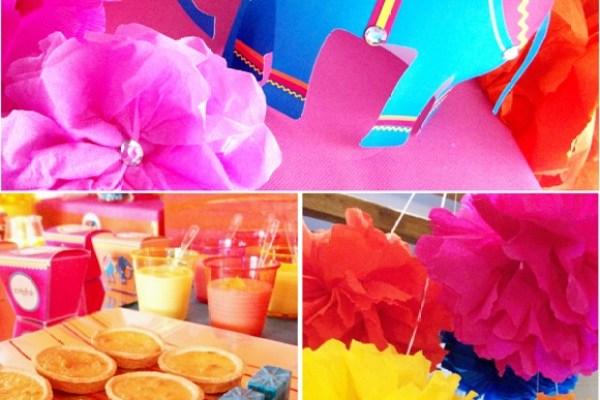 festa infantil primavera pompons