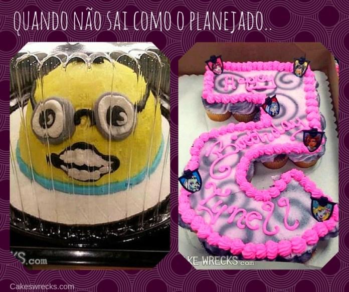 bolos de aniversário feios