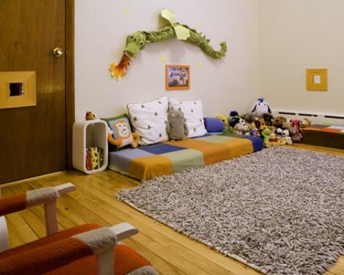 quarto montessori cores e texturas