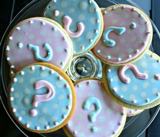 chá de bebê revelação biscoitos