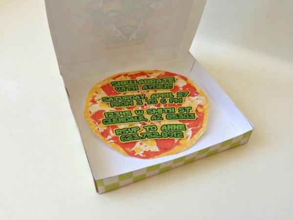 convite de aniversário pizza