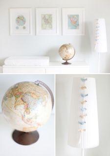 quadro para quarto de bebê mapa mundi
