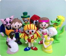 festa infantil bonecos kit turma