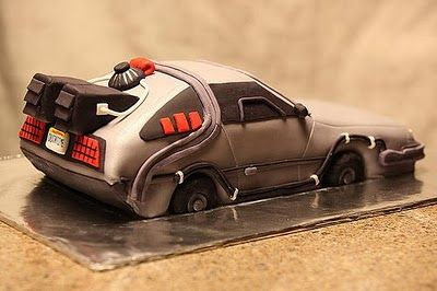 festa infantil de volta para o futuro bolo carro