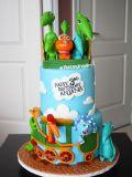 festa infantil dinossauro bolo