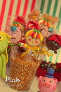 festa infantil sítio do pica pau amarelo pirulito